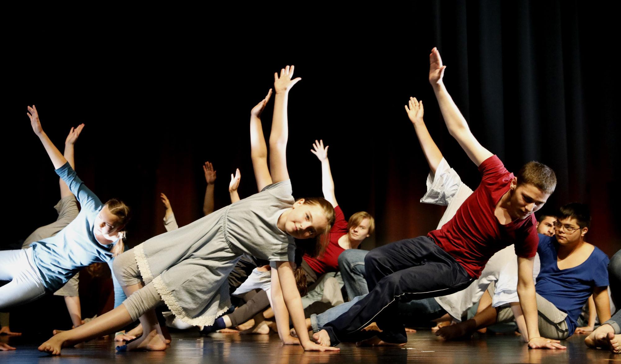 Präsentation des inklusiven Tanzprojekts in der Clauberg-Halle - Klavier-Festival Ruhr